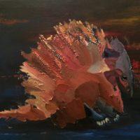 La Bête - Huile sur bois (38 x 45 cm)