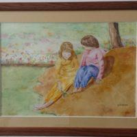 Jeux d'Enfants - Aquarelle sur papier - (30 x 21 cm)