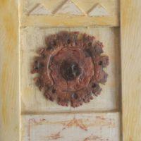 Soleil de Minuit - Argile sur cadre en bois (26 x 22 cm)