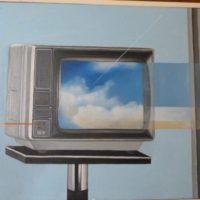 Beau Temps - Ciel Nuageux - Huile sur toile - (54 x 65 cm)