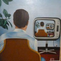 Une Soirée Tranquille - Huile sur toile - (60 x 73 cm)