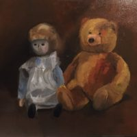 Les Deux Amis - Huile sur toile  (38 x 45 cm)