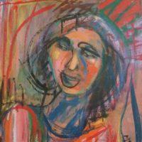 La jeune fille - Huile sur toile - (65 x 54 cm)