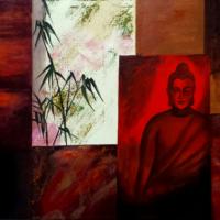 Bouddha - Huile sur toile - (80 x 60 cm)