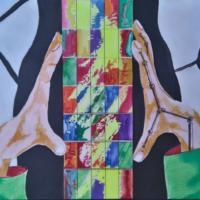 Kaléidoscope - Acrylique sur papier  - (30 x 42cm)