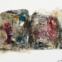 Le livre d'une vie - Huile sur papier de soie marouflé sur toile - (56 x 45 cm)
