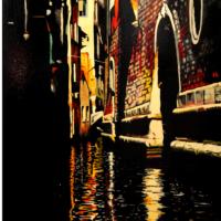 Venise Reflets 7 - Huile sur toile - (60 x 92 cm)