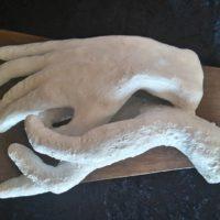 Tendresse 2 - Terre cuite patinée - (25 cm x 17.5 cm x h 10.5 cm)
