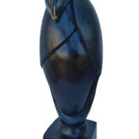 Bird#2 - Terre cuite patinée - (H 43 cm - Diamètre 11 cm) Recherche de formes évoquants l'oiseau avec des lignes élancées et épurées.
