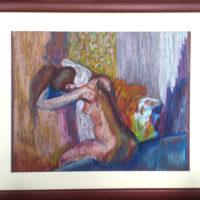 Nue - pastel - (Hors cadre 50 x 39 cm)