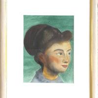 Portrait_2 - Aquarelle sur papier - (Hors cadre 23,4 x 17,5 cm)