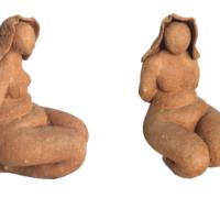 Femme - Terre cuite de Bollène brute