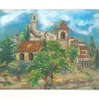 Lourmarin - Pastel sur papier - (30 x 24 cm)
