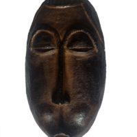 Masque_2 - Terre cuite patinée - (29 x 16 cm)