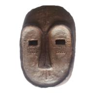 Masque_1 - Terre cuite patinée - (25 x 18 cm)