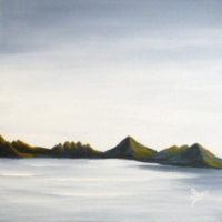 Paysage marin - Huile sur toile - (30 x 30 cm)