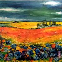 Paysage provençal - 2- huile sur toile