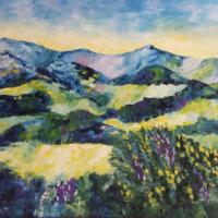 Paysage - Acrylique sur toile.  (92 x 74 cm)