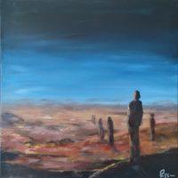 Horizon - Huile sur toile - (40 x 40 cm)