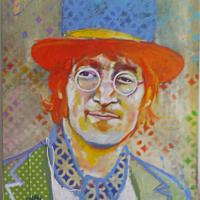 John - Huile sur toile - (55 x 46 cm)