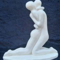 Sculpture en plâtre patiné blanc