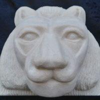 Reproduction de la tête de lion de la pyramide de Niousseré Abousir Egypte 5ème dynastie