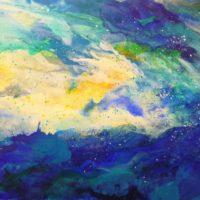 Sans titre n° 416 - Huile sur toile - (90 x 180 cm)