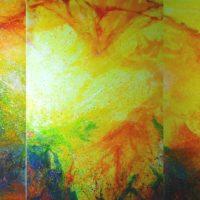 Sans titre n° 528 - Huile sur toile - Triptyque (180 x 360 cm)