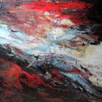 Sans titre n° 9305 - Huile sur toile - (112 x 165 cm)
