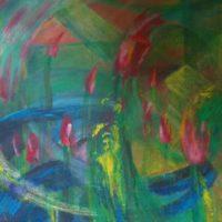 Printemps - Huile sur toile - (112 x 165 cm)
