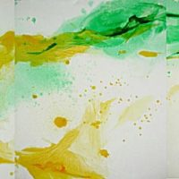 Sans titre n° 1206 - Huile sur toile - Polyptyque - (114 x 485 cm)
